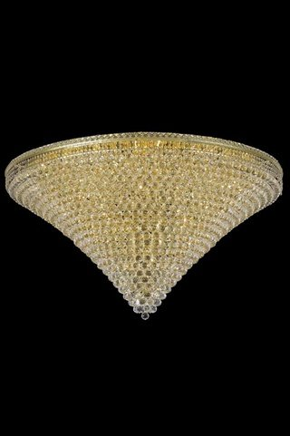 Elegant Lighting 2527F60G/SS Tranquil Collection 48-Light Flush Mount Swarovski Strass/Elements Crystal with Gold Finish
