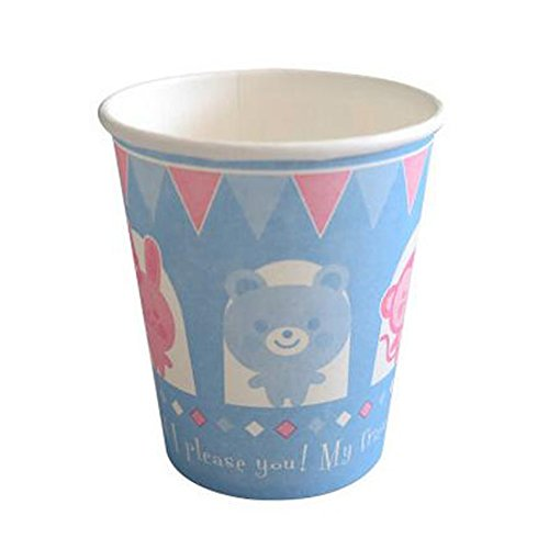 Animal Pattern Party Cup Beverages Paper Cup Disposable Paper Cup 60PCS, C