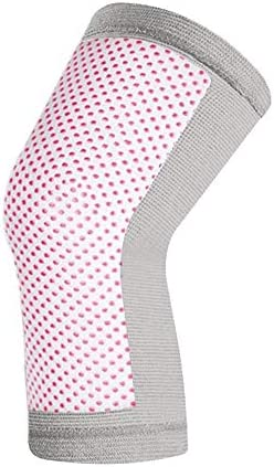 IhDFR スポーツ膝パッド、メタル春フィットネス膝パッドユニセックス膝ブレースパッド冬暖かいサーマル膝パッド1ペア、色、ブラック、グレー (Color : Gray, Size : M:27*30-39CM)