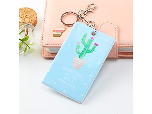 Credit Card Wallets ID Card Cover Bus Pass Credit Card Holders Protector Badge Covers Case Key Plastic Pocket Holder Pouchs_Cactus 2 Badge Holder