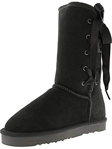 Closed amp; Aliciah Co Grey Cold Weather Boots Womens Toe Leather Style Mid calf XfnAUxw66g