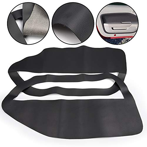 (2pcs Microfiber Leather Door Panel Insert Card Covers Kit Replacement For Ford Mustang 2005-2009 Black 2006 2007 2008)