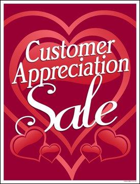 Amazon.com: Cliente apreciación venta ventana venta cartel ...