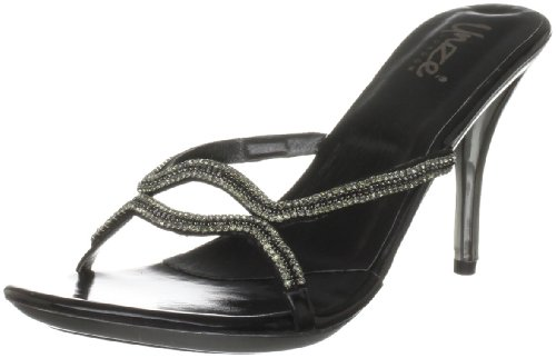 Unze Evening Sandals, Damen Sandalen Schwarz (L18565W)