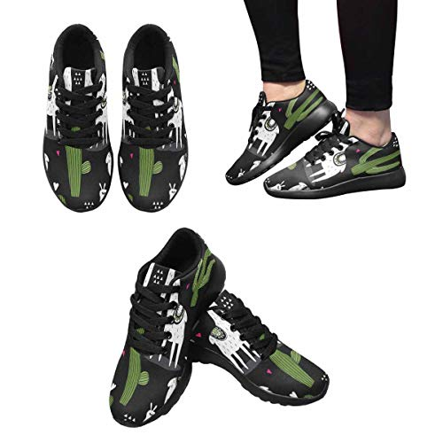 10 Women's Design Running Sports Road Alpacas InterestPrint Shoes Happy 8nOg4xwCq