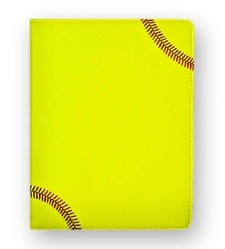 Style Ruled Pads (Zumer Sport Textured Softball Portfolio with Authentic Red Stitching - Soft and Supple Padfolio with Notepad and Business Card Holder - Includes a Pen Holder and Ruled Writing Pad - Perfect Gift Ideas)