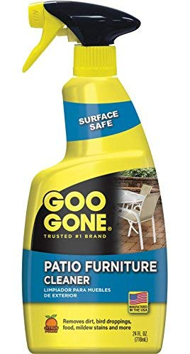 Goo Gone Patio Furniture Cleaner - Removes Dirt, Bird Droppings, Food, Mildew Stains and More From Your Outdoor and Patio Furniture - 24 Fl. Oz., 2107 (Cleaner Diy Furniture Outdoor)