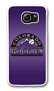 Galaxy S6 Case, S6 Cases, Custom Colorado Rockies Galaxy S6 Bumper Case [Scratch Resistant] [Shock-Absorbing] Hard Plastic White Protective Cover Cases for New Samsung Galaxy S6