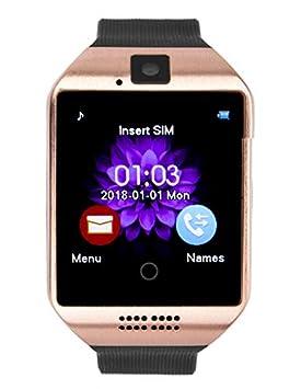 Montre connectée Bluetooth RQ18 avec Fonction Appel téléphonique et SMS avec écran Tactile pour Appareil Photo