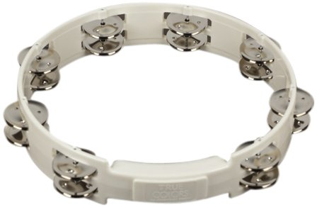 RhythmTech TC4020 10-Inch True Colors Tambourine, White