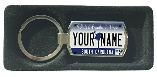 (BleuReign(TM) Personalized Custom Name 2016 South Carolina State License Plate Metal Keychain)