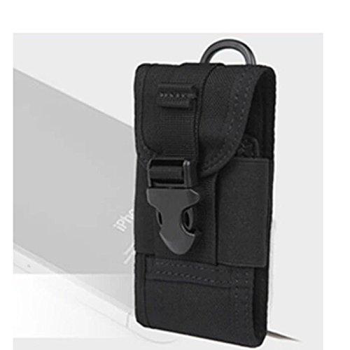 Beliebt Mini Tasche Multifunktion Handy Paket Außen Taille Hängetasche Schwarz