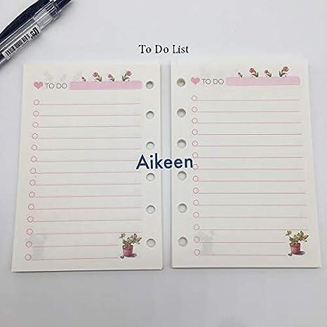 Amazon.com : LILACORP : Cute Cartoon A7 Loose Leaf Notebook ...