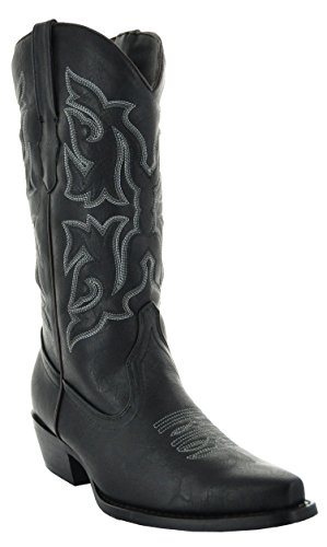 Country Love Pointed Toe Women's Cowboy Boots W101-1001 (12, Black) -