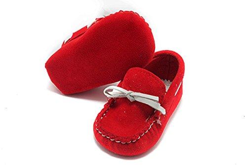 ABA Mocassino, Baby Jungen Krabbelschuhe & Puschen Rot
