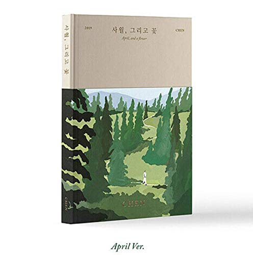 K-POP EXO CHEN - 1st Mini Album [April, and a Flower] (April version) Music CD + Bookmark + Photobook + Photocard + Folded Poster + Extra Photocards Set + Tracking Number KPOP Sealed ()