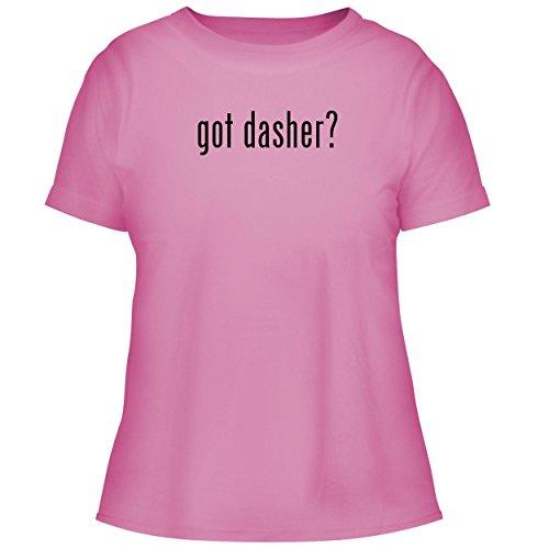 Reindeer Spun Glass (BH Cool Designs got Dasher? - Cute Women's Graphic Tee, Pink, Small)