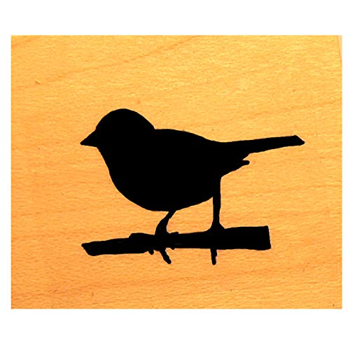 Miniature Bird Silhouette rubber stamp P4]()