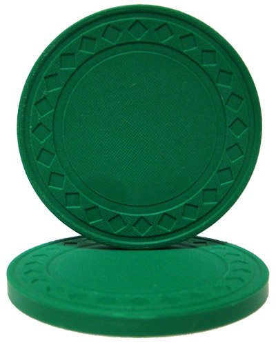 Brybelly Diamond Ring Poker Chip 8.5-gram Clay Composite - Pack of 50 (Green) ()
