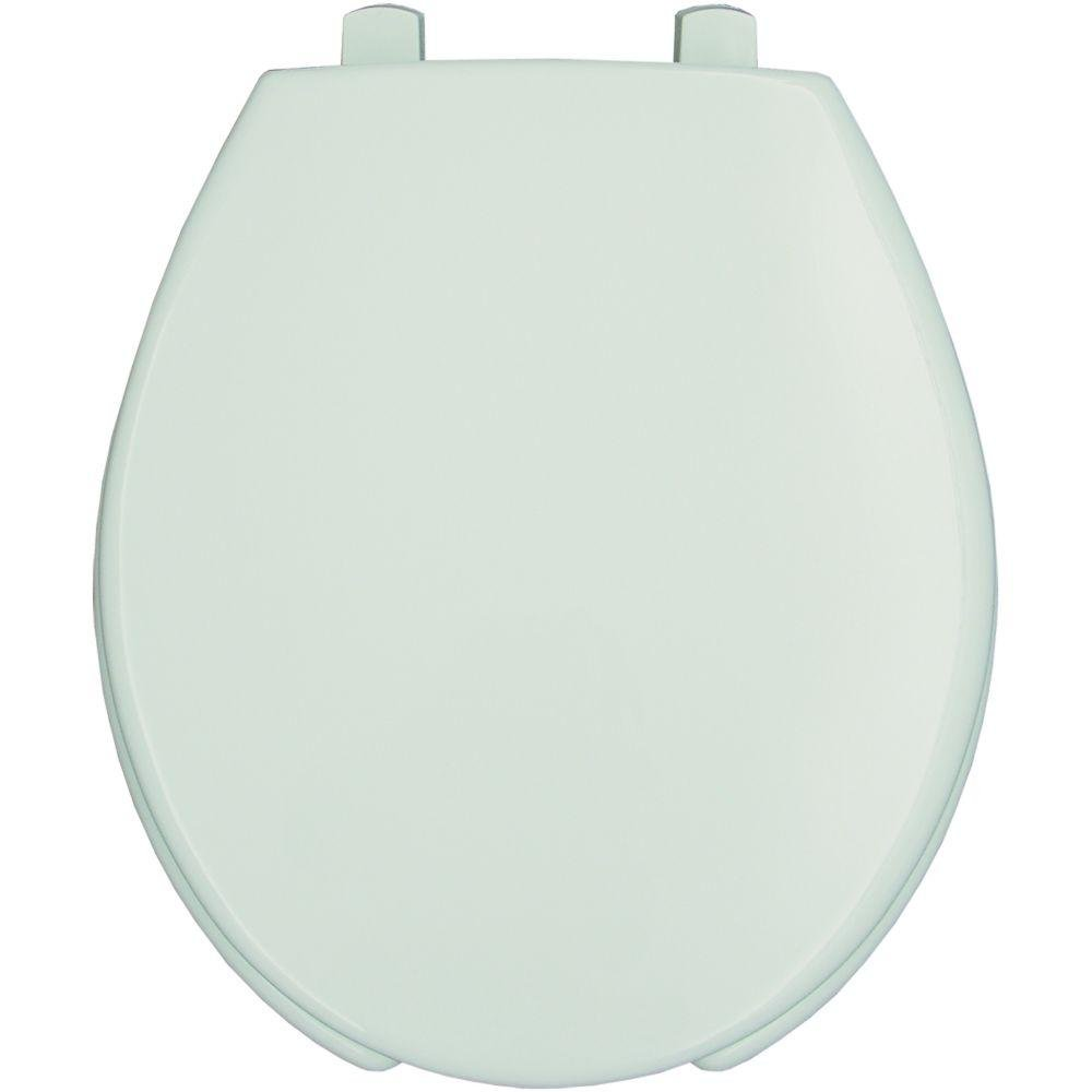 Bemis Medic-Aid 3'' Lift Raised Open Front Plastic Toilet Seat with Cover, Round, White, 3L2050T 000