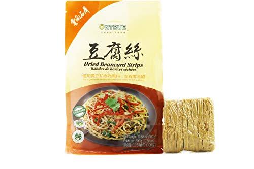 ONTRUE Dried Beancurd Sticks, Asian Tofu, Soybean Noodle, Satisfied For Vegan, Good Source Of Protein, Non-Gmo, No Extra Adding, 10.58 Oz