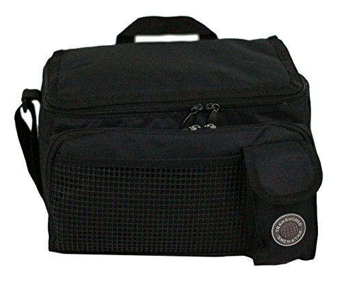 "Price comparison product image Transworld Durable Deluxe Insulated Lunch Cooler Bag (Many Colors and Size Available) (12""x10""x8 1/2"", Black)"