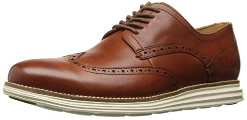 Cole Haan Men's Original Grand Shortwing Oxford Shoe, Woodbury Leather/Ivory, 10.5 Medium US