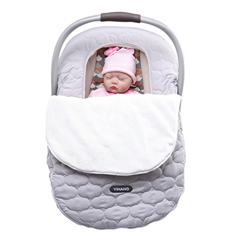 YIHANG Baby Car Seat Covers for Girls and Boys,Infant Car Seat Cover for Autumn and Winter,Car Seat Canopies & Covers (Grey) (Girl Baby Car Seat Covers compare prices)