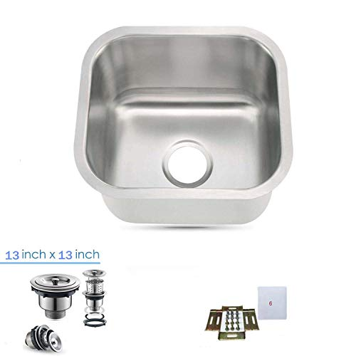 18-Gauge Undermount Single Bowl Stainless Steel Small Bar/Prep Sink 13''X13'' by Oakland (Image #8)