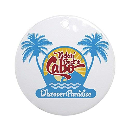 Voicpobo Cabo San Lucas Christmas Ornaments Round Novelty Ceramic Christmas Tree Decoration Ornament Gifts for Friends,for Family