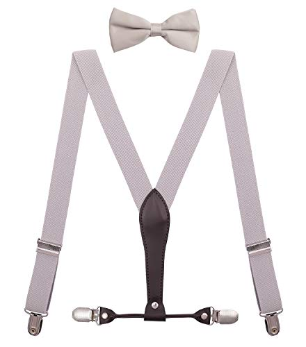 BODY STRENTH Kids Bow Tie and Suspenders Adjustable Elastic 30