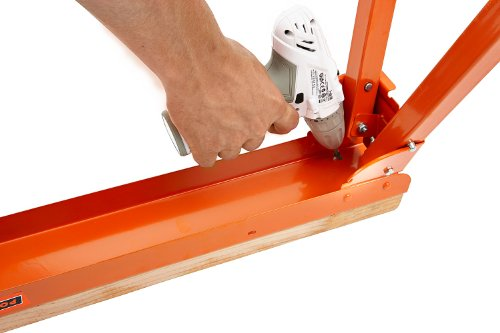 All Steel Folding Sawhorse - Pair BORA Portamate PM-3300T. TWO 33-Inch Tall Fold-up Heavy Duty Saw Horses. Fully Assembled, 1,000lb. Capacity (500lbs. each) and Quickly Folds Up for Easy Storage by PortaMate (Image #5)