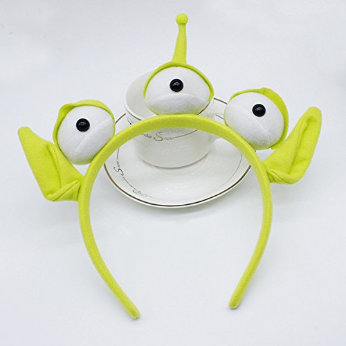 Green Monster Headband Party Eyeball Hairband Sweatband Headwrap Alien Furry Costume Headdress Gift ()