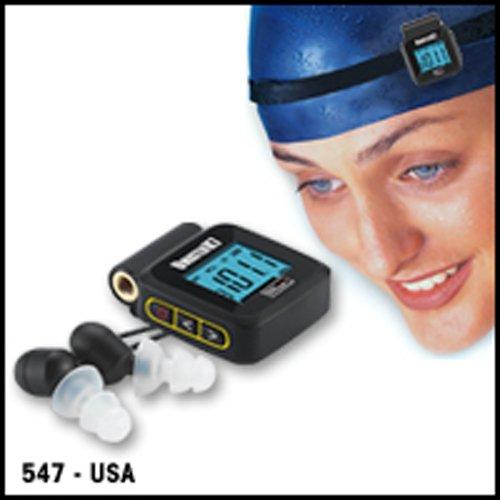 UwaterK7 -Smallest 100% Waterproof Swim Digital PLL FM Radio & Earphones