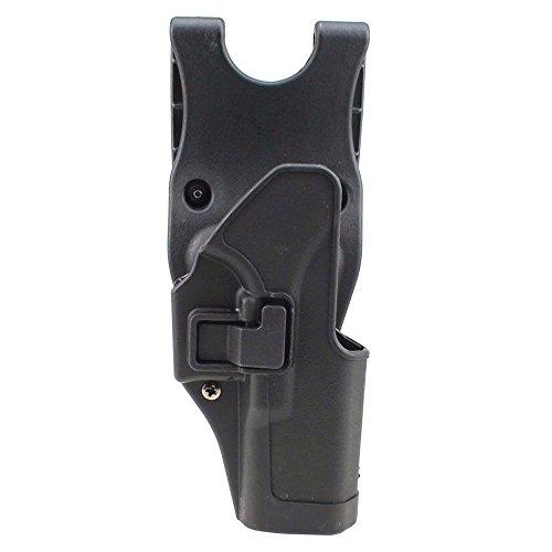 JINJULI Quick Release Tactical Right Hand Paddle Waist Belt Pistol Holster for Glock 17 (Black)