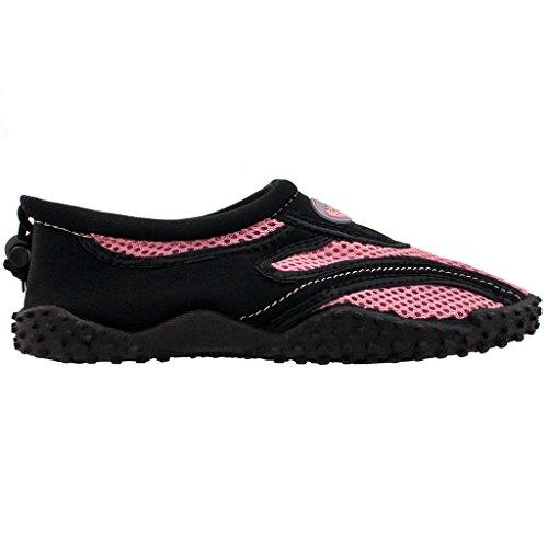 The Wave Womens Water Shoes Pool Beach Aqua Socks Yoga Oefening Trends Snj 1185l Zwart Roze