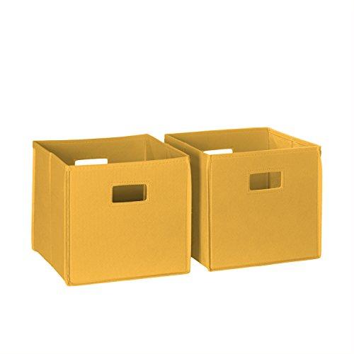 - RiverRidge 02-061 2-Piece Folding Storage Bin, Golden Yellow