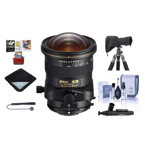 Nikon PC NIKKOR 19mm f/4E ED Perspective Control Lens - U.S.A. Warranty - Bundle with Lens Wrap (19x19), Cleaning Kit, LensCoat Raincoat Rain Sleeve, LensPen Cleaner,Capleash II, Mac Software Package