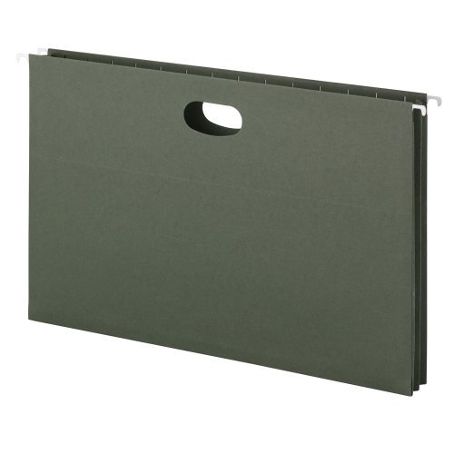 Smead Hanging File Pocket, 1-3/4 Expansion, Legal Size, Standard Green, 25 per Box (64318) by Smead