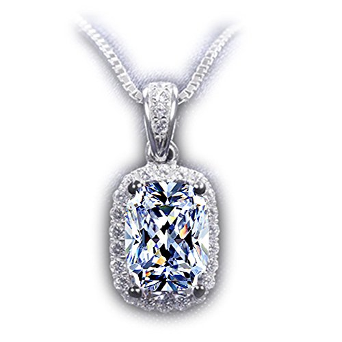 TenFit Jewelry Women White Gold Plated Pendant Sim…