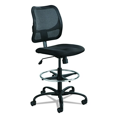 Loop Arm Task Chair (Safco Products 3395BL Vue Extended Height Mesh Chair (Optional arms sold separately), Black)