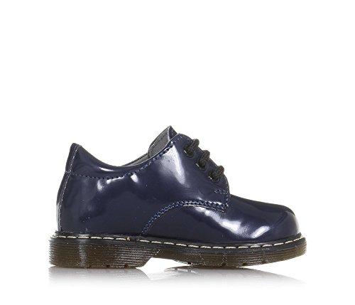 CIAO BIMBI - Blauer Schuh mit Schnürsenkeln aus glänzendem Öko-Leder, Unisex Jungen, Mädchen