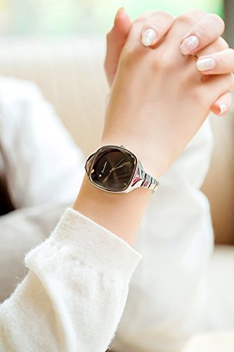 Generic Minimalist Korean_style_of new_cool_no_field_square_mirrors,_ students _maiden_honeymoon_couples_ bracelet bangle _steel_ watch _with_ watch