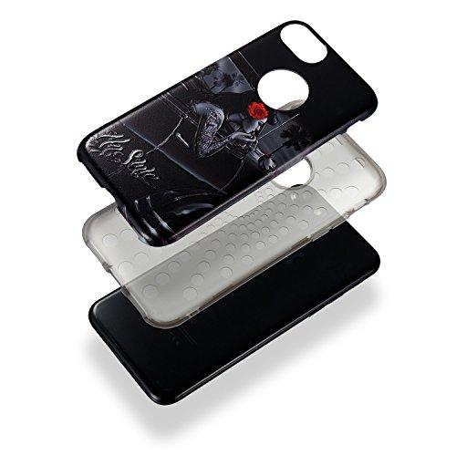 Custodia iPhone 7 / 8 , LH Auto Ragazza TPU Silicone Cristallo Morbido Case Cover Custodie per Apple iPhone 7 / 8 4.7