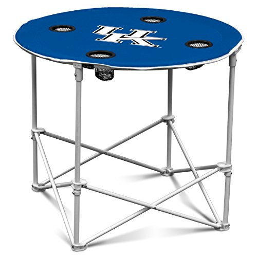 Logo Brands Kentucky Wildcats Collapsible Round Table with 4 Cup Holders and Carry Bag