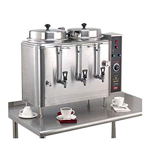 Cecilware Coffee Urn - Grindmaster-Cecilware FE100N-102417 Electric Double Coffee Urn, (2) 3 Gallon Tanks with Pump Style Brewing System, Single Phase