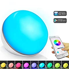Basic Information Product Name: Smart Table Lamp Product Function: Color light/WiFi/Voice control/APP controlWiFi App Control Different Modes for Different Scenes Quiet Mode: Adjust to the warm constant light as bed stand modern lamp while re...