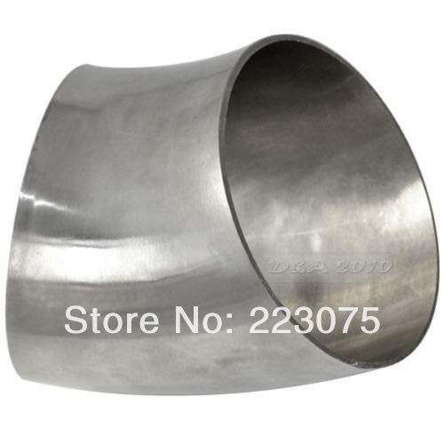 Maslin New Arrival Stainless Steel SS304 89mm 3.5'' OD Sanitary Weld Pipe Fitting 45 Degree 2 pcs/lot