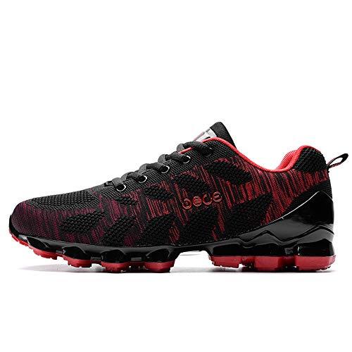 Zapatos color Confort Eu Y Rojo Negro 41 Hombre Cordones Antideslizante Transpirables Qiusa Tamaño Cómodos Con Para Blanda Suela Duraderos dawqdHOP