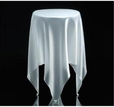 Transparente Essey Alto Illusion Mesa, Blanco Hielo: Amazon.es: Hogar